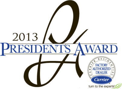 Carrier Logo with President's Award